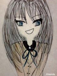 A shy girl by A-M-A-N-D-E