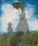 Claude Monet studying