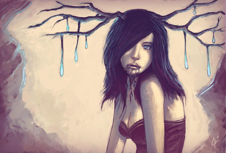 Tu avances et tu Hercules (PV moi même) Vampire_deer_girl____by_rats_in_the_van-d37athp