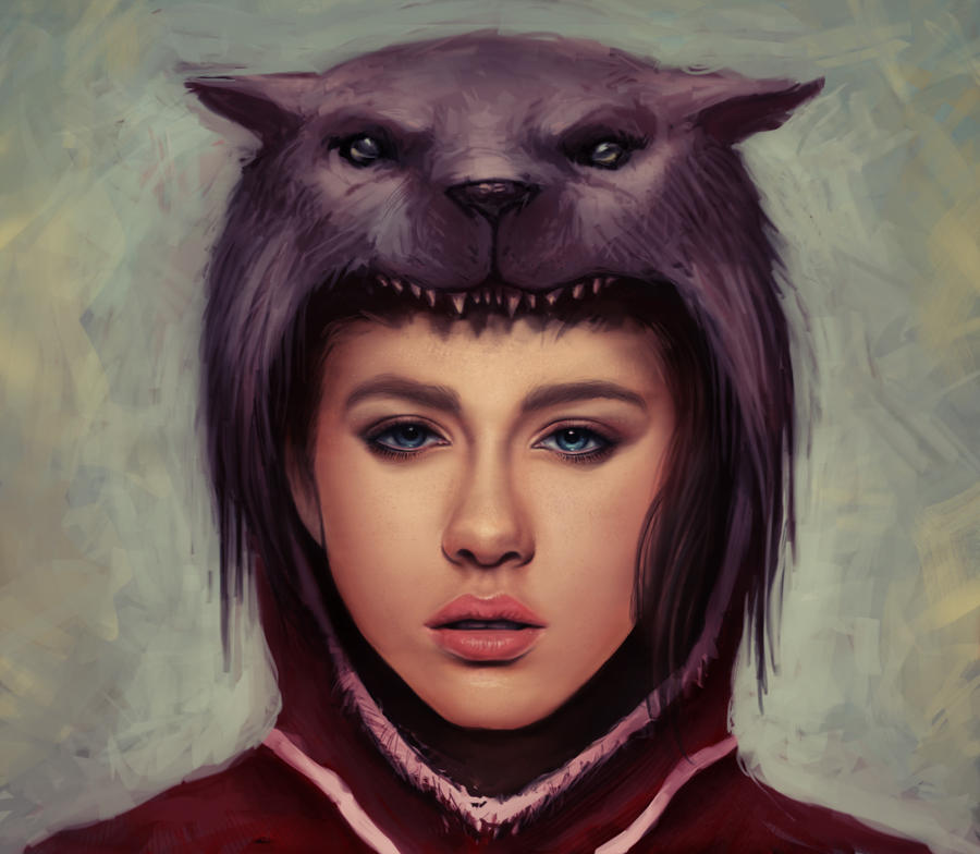red riding hood - wolf hood by ~Rats-in-the-van