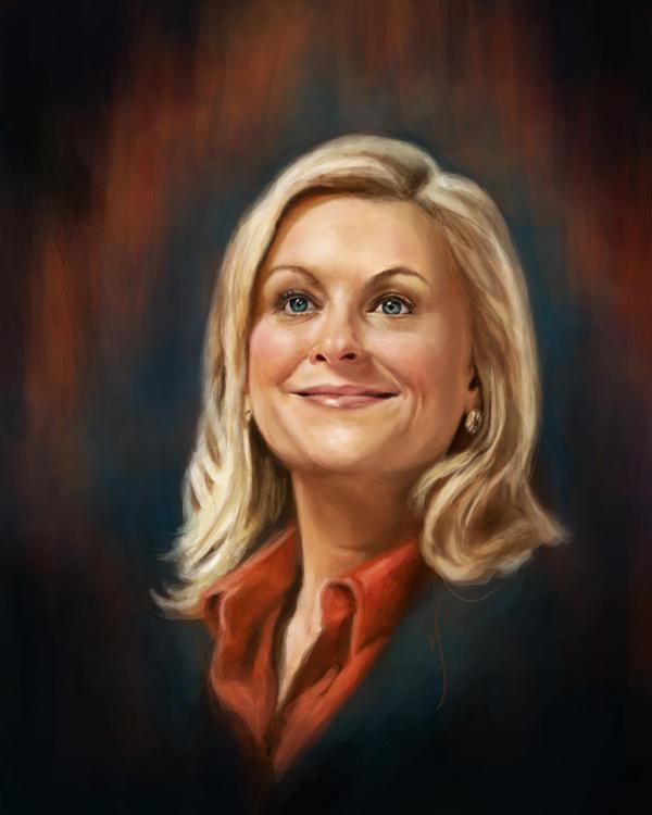 52 Portraits #44: Leslie Knope by rflaum