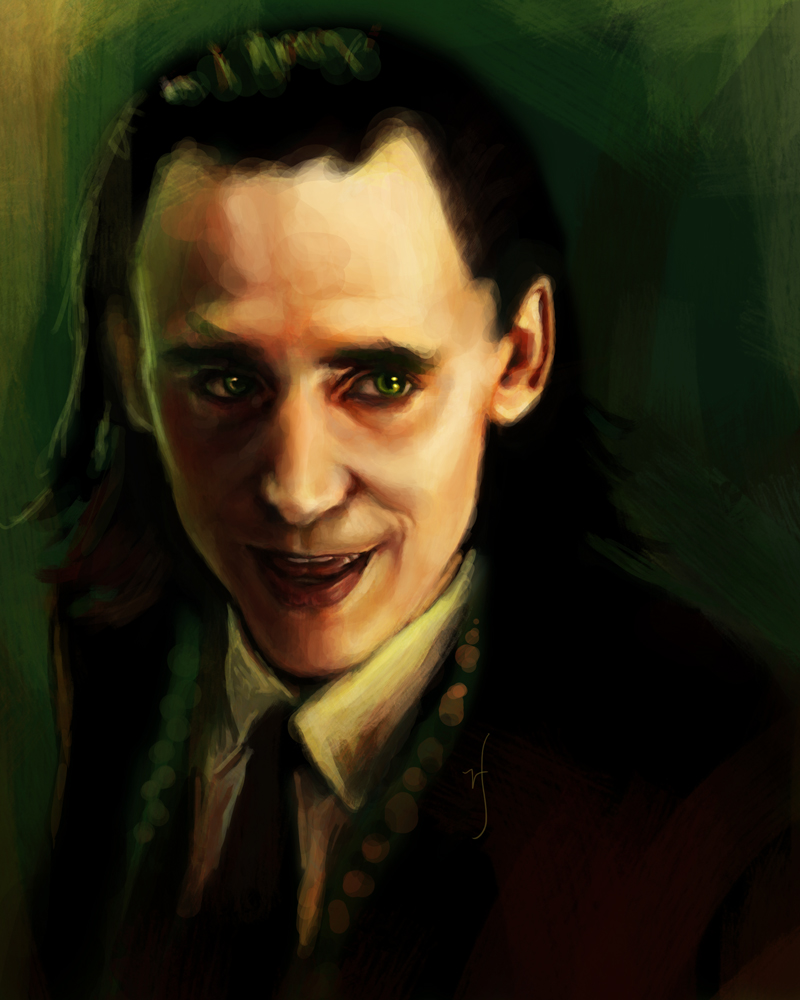 52 Portraits #48: Loki by rflaum