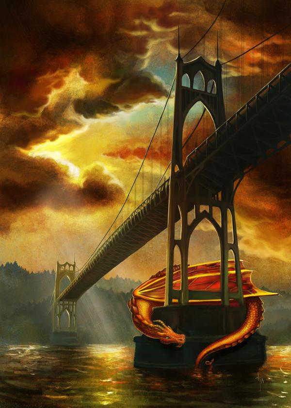 The Dragon of the St John's Bridge by rflaum