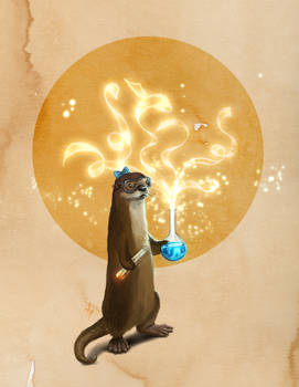 Otter Doing Science
