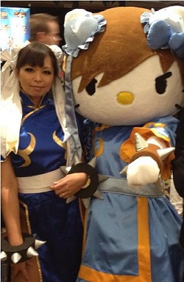 Cosplaying as Chun Li with Hello Kitty! by LexLexy