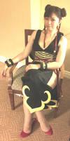 Chun Li alternate Fanime 2014 sitting by LexLexy
