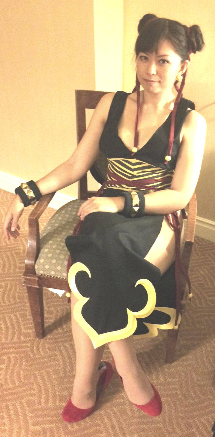 Chun Li alternate Fanime 2014 sitting by LexLexy