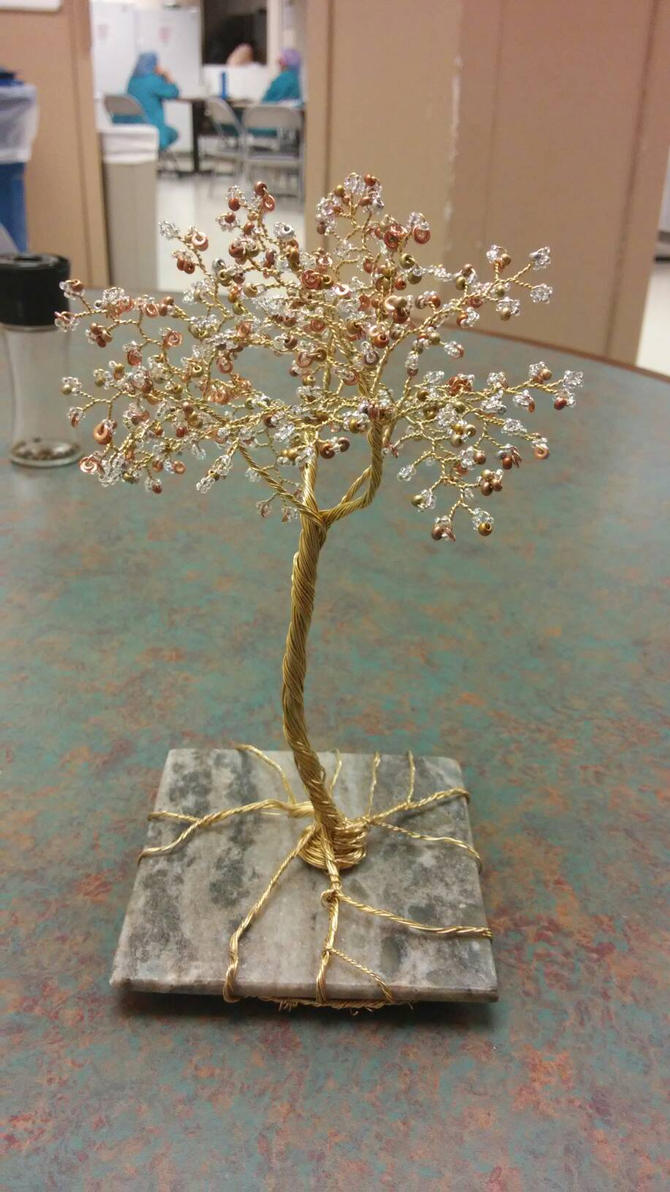gold silver copper tree on marble  by redscrubsin