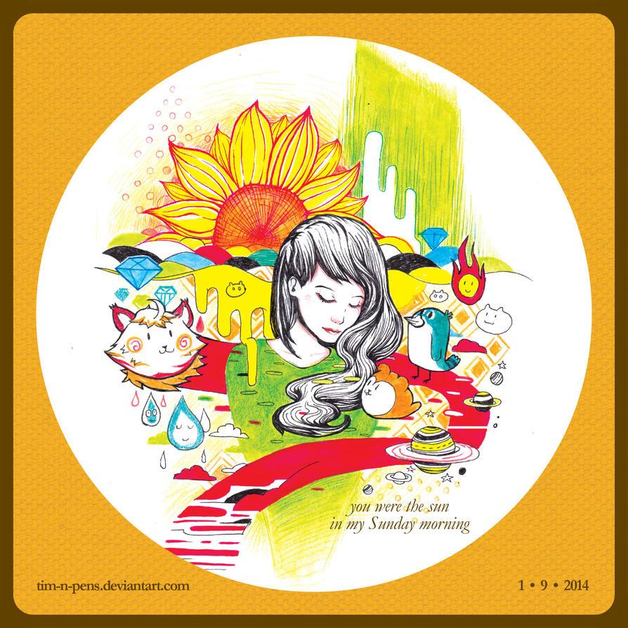 Sunflower by tim-n-pens