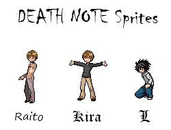 Death Note Sprites 1 by NasukeUchimaki