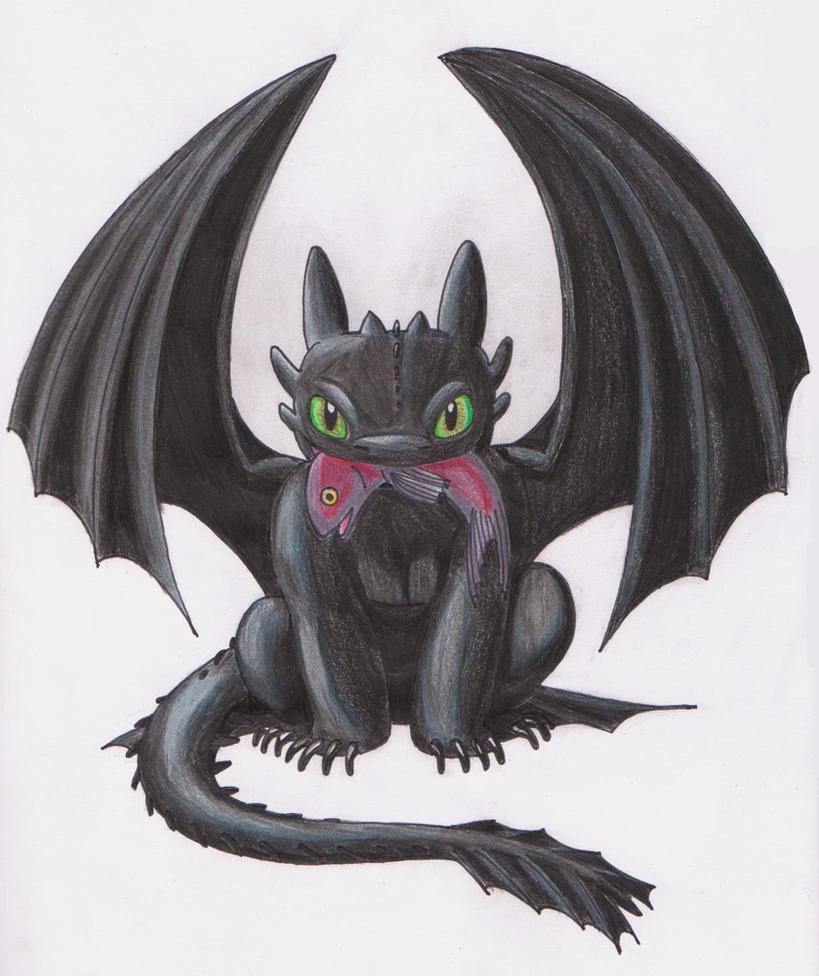 This is an image of Delicate Baby Toothless Drawing