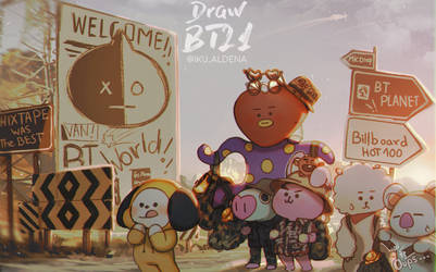 #Draw_BT21 contest