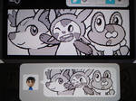 Miiverse - Fennekin, Chespin, and Froakie