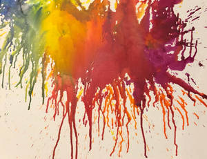 Crayon Melting Art