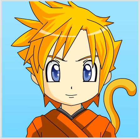 Anime Face Maker 2: Super Saiyan Goku by Peach110