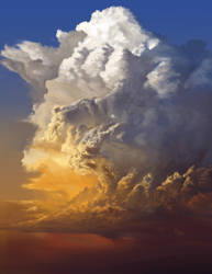 Blue Yellow Red Cumulus