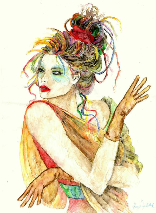 Colourful Lady by deniznaz