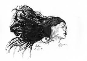 Flowing hair by matsmoebius