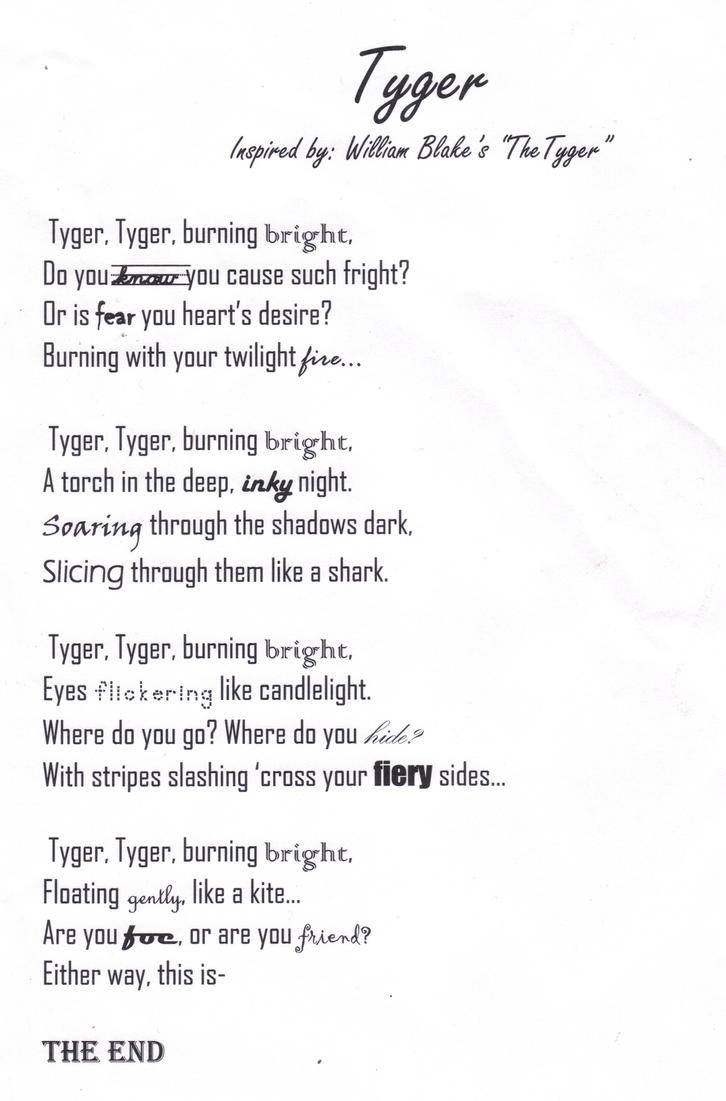 Tyger by Chisame-Rishu