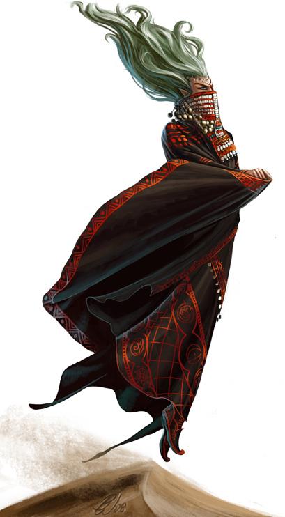 creature-elementali Janni - by Ben Wootten © Jason Bulmahn **//Dungeons & Dragons Pathfinder - Bestiario//**, Paizo Publishing, LLC, Wyrd Edizioni, **2009**