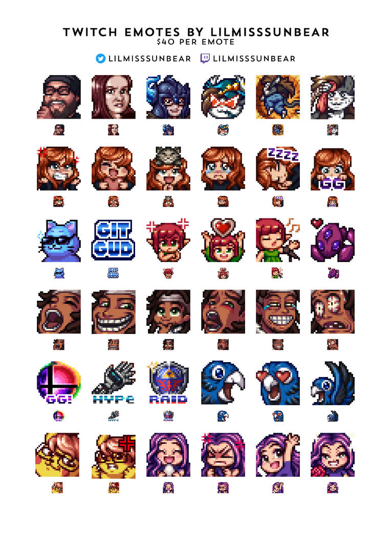 Twitch Emote Commissions OPEN