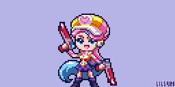 Arcade Miss Fortune Pixel Art [+Timelapse] by LilMissSunBear