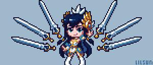 Divine Sword Irelia Pixel Art [+Timelapse]
