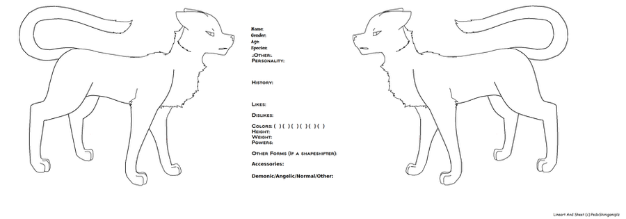 Blank Reference Sheet .:Dog/Cat:. By PedoShinigamiplz ...  Blank Reference Sheet