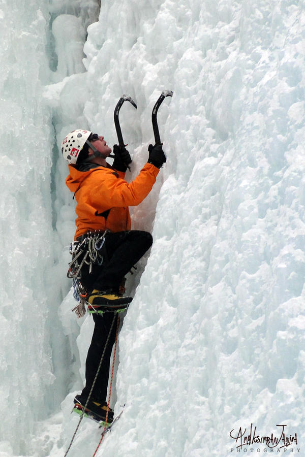 Ice Climbing by Janjua