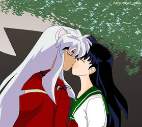 Inuyasha And Kagome Kiss Favourites By Marcelinethevampire3 On