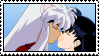 InuYasha and Kagome Stamp by blondishnet