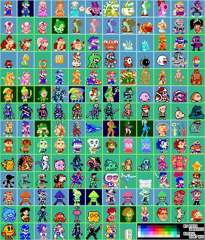 Super Mario Maker 8 Bit Character Costumes 32x32 By Ridgetroopa