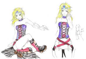 Dead Fantasy III: Rikku Monk by XXXTrilic