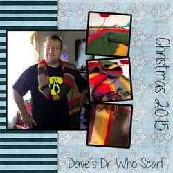 Dave's Dr. Who Scarf, Christmas 2015