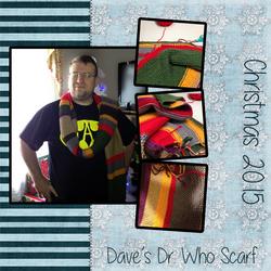 Dave's Dr. Who Scarf, Christmas 2015