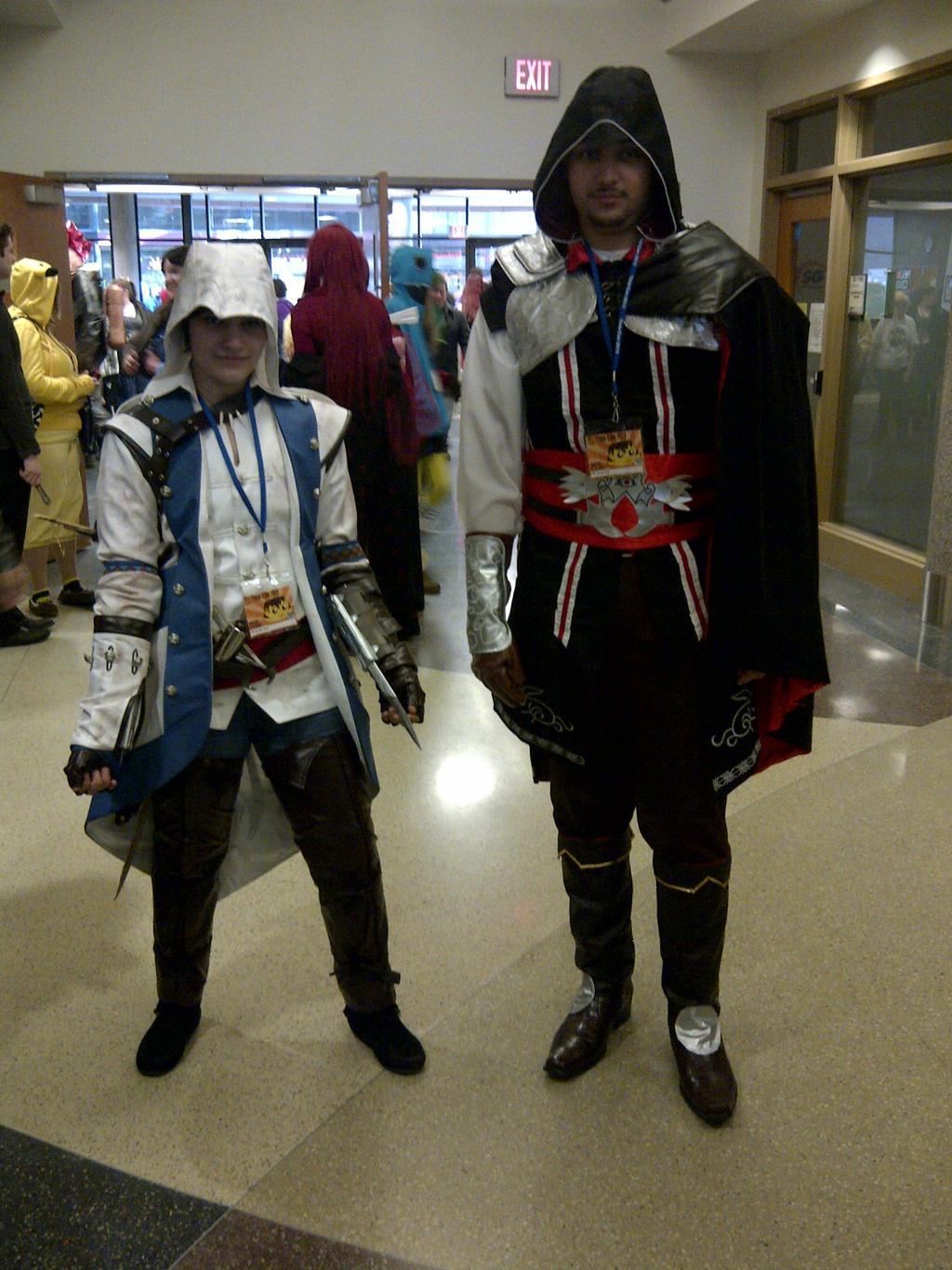 Connor Kenway and Ezio Auditore by DarkLilly1991Connor And Ezio