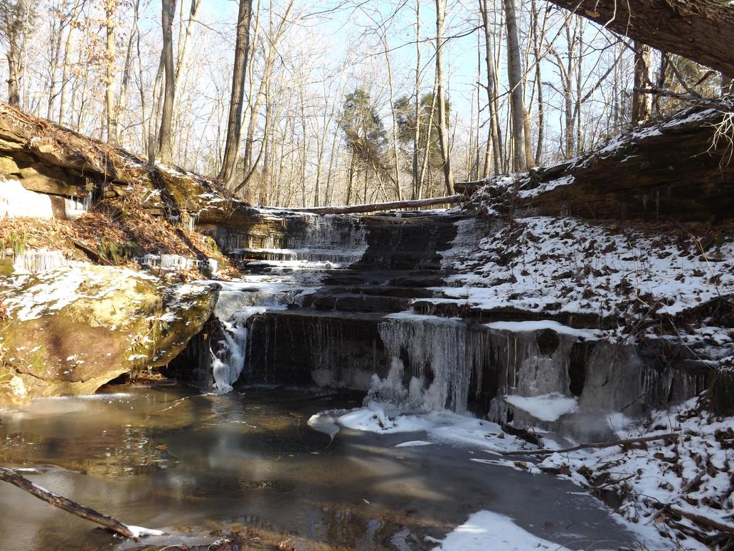 Small Frozen Falls by bird150