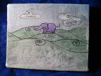 Tiny Purple Ellyphants by Dellessanna