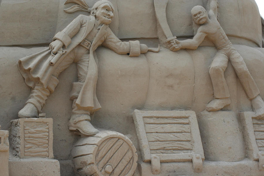 Giant Sand Sculptures II by Dellessanna