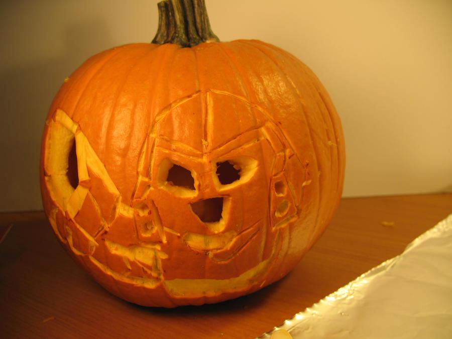megatron pumpkin stencil