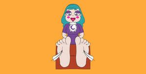 Eclipsa Feet Tickled