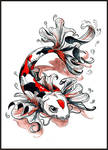 Commission - Koi tattoo colour