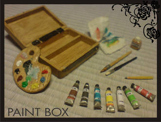 Miniature dollhouse paint box by Yuki-Myst