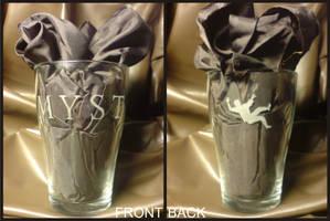 Myst engraved glass