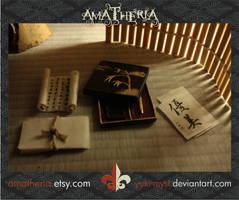 Japanese mini calligraphy set by Yuki-Myst