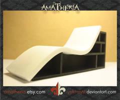 Modern hybrid Chair-bookcase by Yuki-Myst