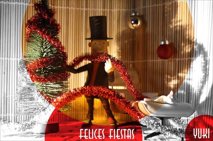 Layton wishes you Happy Holidays by Yuki-Myst