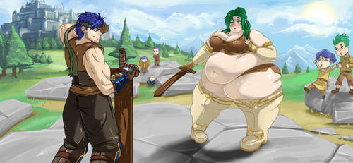 Cover art: Elincia the Enormous by RounderSofter