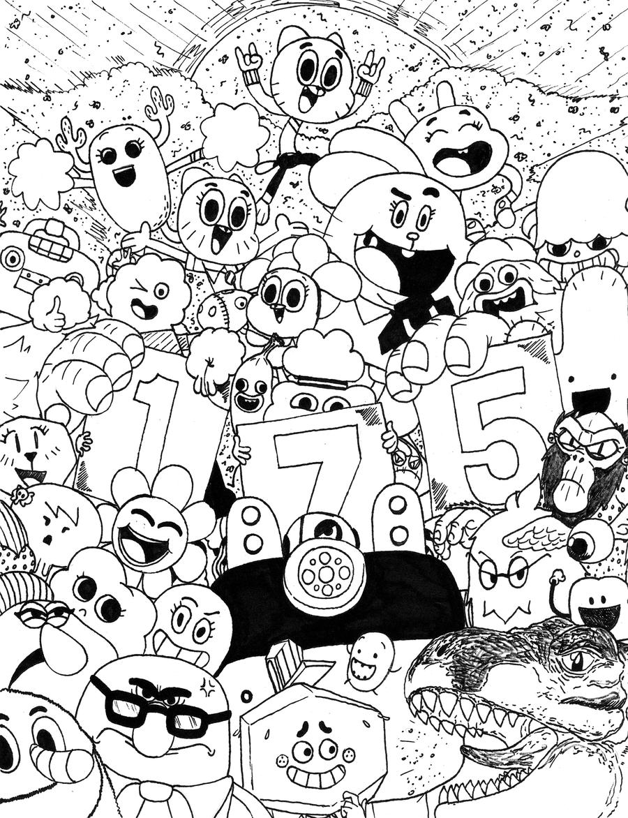 Amazing World Of Gumball Family Coloring Pages