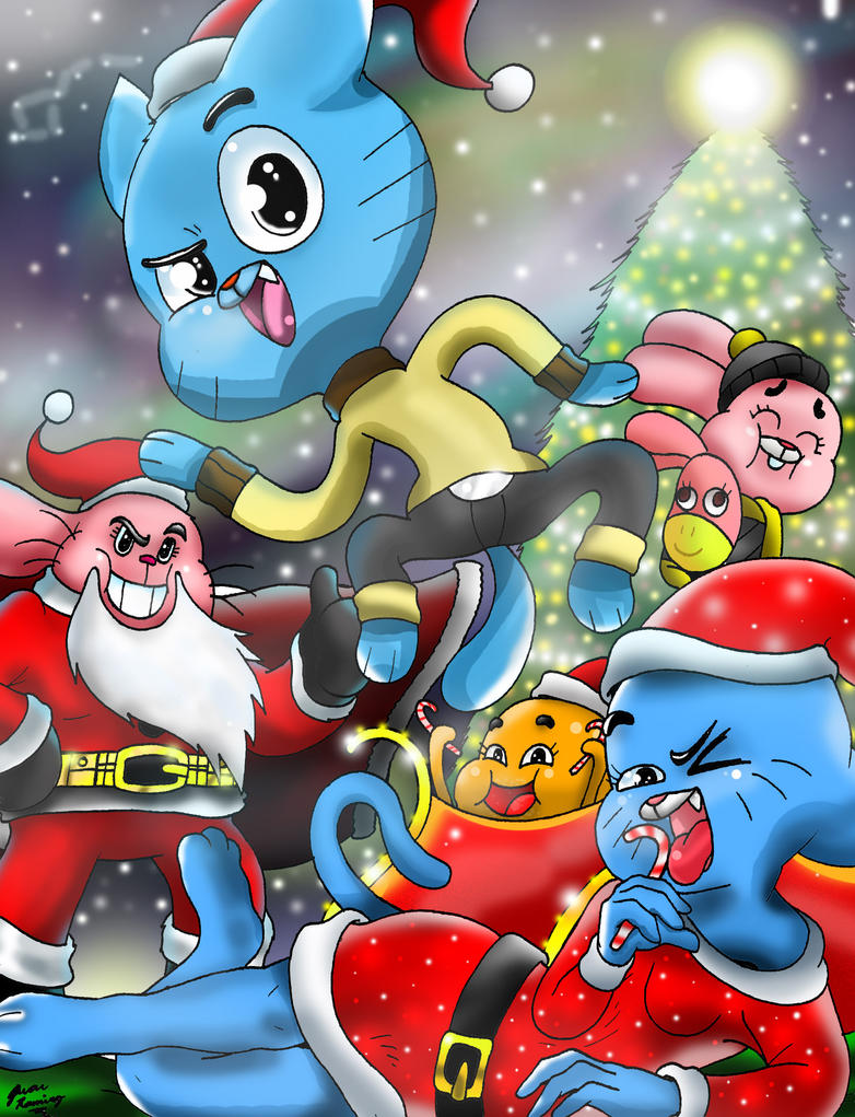 Merry Christmas! from The Amazing World of Gumball by WaniRamirez ...
